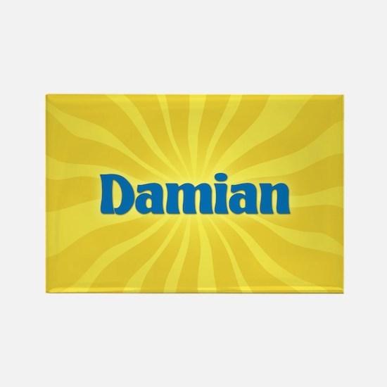 Damian Sunburst Rectangle Magnet