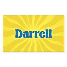 Darrell Sunburst Oval Decal