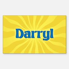 Darryl Sunburst Oval Decal