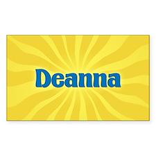 Deanna Sunburst Oval Decal