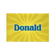 Donald Sunburst Rectangle Magnet