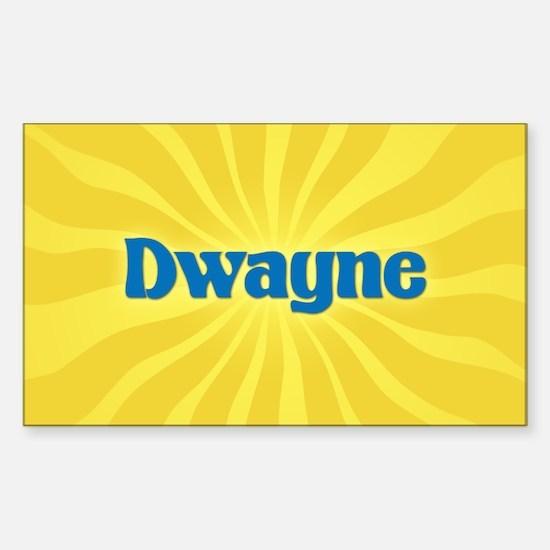 Dwayne Sunburst Oval Decal