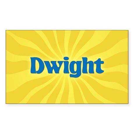 Dwight Sunburst Rectangle Sticker
