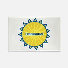 Emmanuel Sunburst Rectangle Magnet