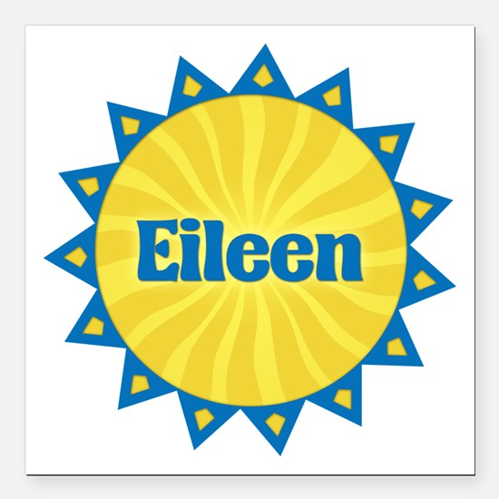 Eileen Sunburst Square Car Magnet