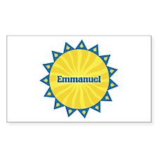 Emmanuel Sunburst Rectangle Decal
