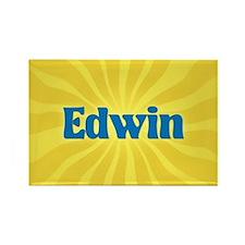 Edwin Sunburst Rectangle Magnet