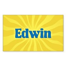 Edwin Sunburst Oval Decal
