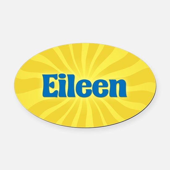 Eileen Sunburst Oval Car Magnet
