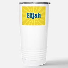 Elijah Sunburst Stainless Steel Travel Mug