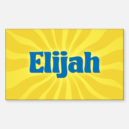 Elijah Sunburst Oval Decal