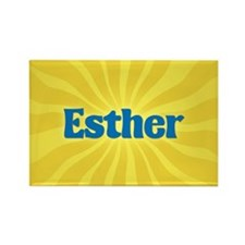Esther Sunburst Rectangle Magnet