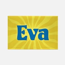 Eva Sunburst Rectangle Magnet
