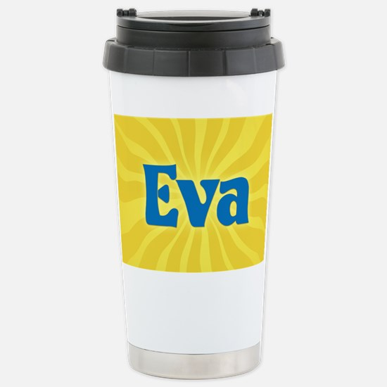 Eva Sunburst Stainless Steel Travel Mug