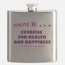 Cool New year resolution Flask