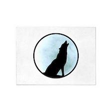 Wolf Howl 5'x7'Area Rug