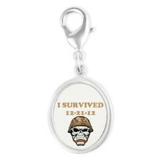 survived Silver Oval Charm