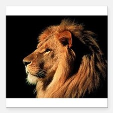 """The King of the Jungle Square Car Magnet 3"""" x 3"""""""