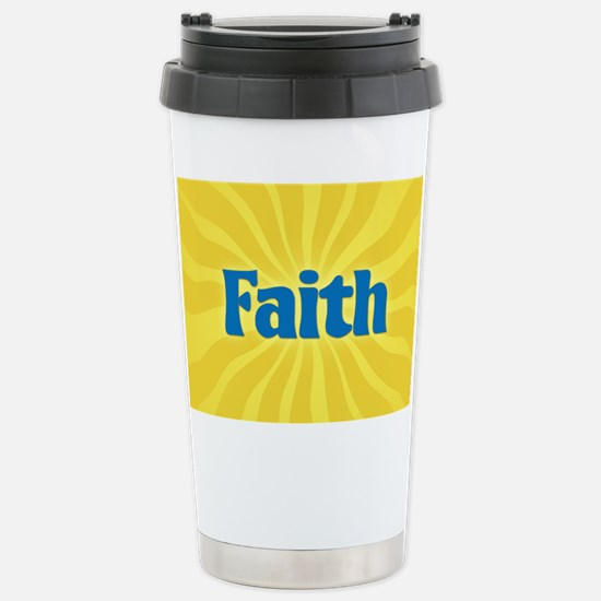 Faith Sunburst Stainless Steel Travel Mug