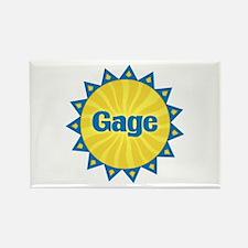 Gage Sunburst Rectangle Magnet