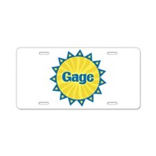 Gage Sunburst Aluminum License Plate