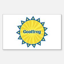 Geoffrey Sunburst Rectangle Decal