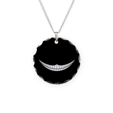 Cheshire Grin Necklace Circle Charm