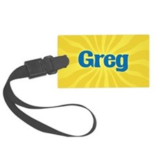 Greg Sunburst Luggage Tag