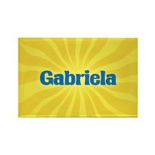 Gabriela Sunburst Rectangle Magnet