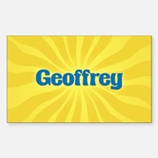 Geoffrey Sunburst Oval Decal