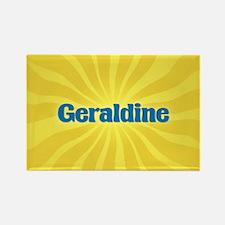 Geraldine Sunburst Rectangle Magnet
