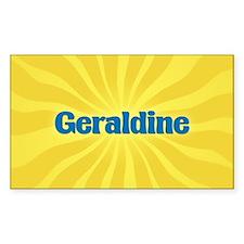 Geraldine Sunburst Oval Decal
