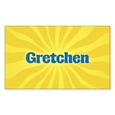 Gretchen Sunburst Rectangle Decal