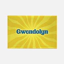 Gwendolyn Sunburst Rectangle Magnet