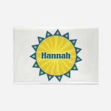 Hannah Sunburst Rectangle Magnet
