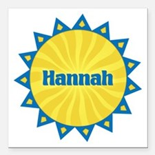 Hannah Sunburst Square Car Magnet