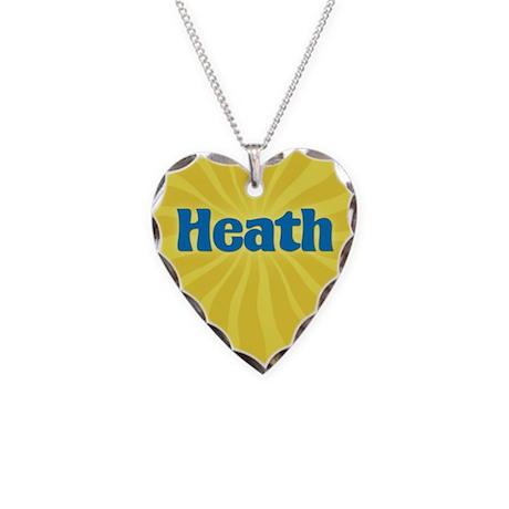 Heath Sunburst Necklace Heart Charm