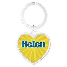 Helen Sunburst Heart Keychain