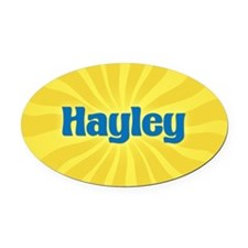 Hayley Sunburst Oval Car Magnet