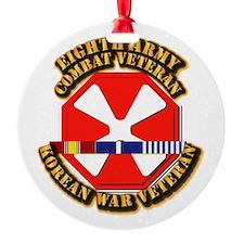 Army - 8th Army w Korean Svc Ornament