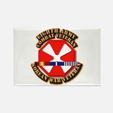 Army - 8th Army w Korean Svc Rectangle Magnet