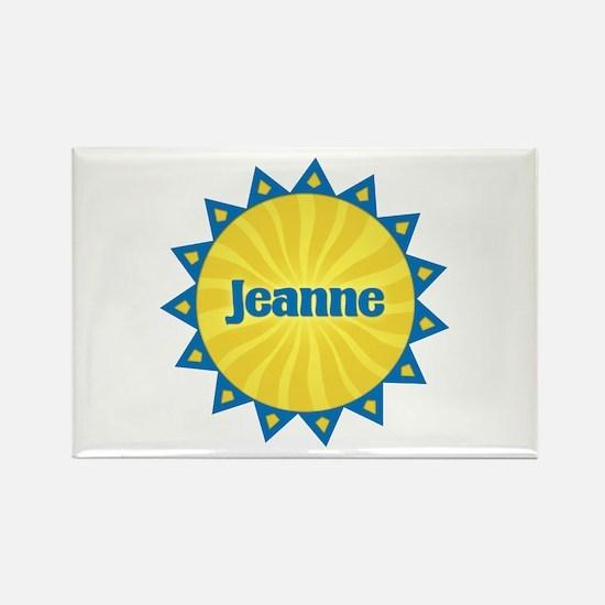 Jeanne Sunburst Rectangle Magnet
