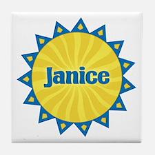 Janice Sunburst Tile Coaster