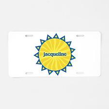 Jacqueline Sunburst Aluminum License Plate