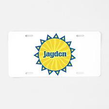 Jayden Sunburst Aluminum License Plate