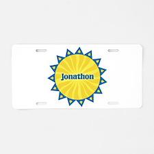 Jonathon Sunburst Aluminum License Plate