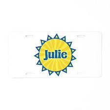 Julie Sunburst Aluminum License Plate
