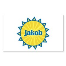 Jakob Sunburst Rectangle Decal