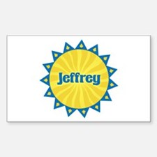 Jeffrey Sunburst Rectangle Decal