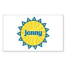 Jenny Sunburst Rectangle Decal